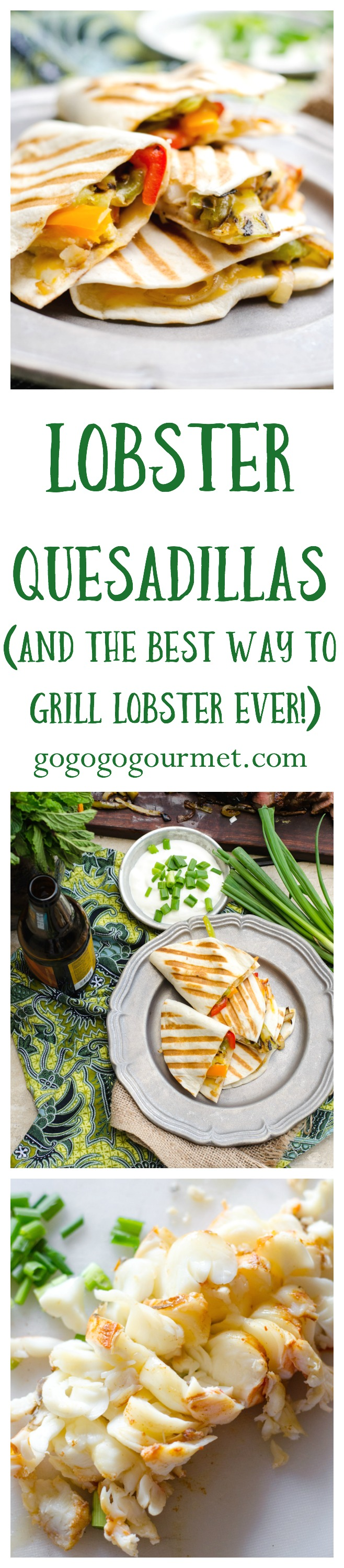 I finally figured out the SECRET method to grilling up buttery, tender lobster tails! Then I folded it into an unbelievable quesadilla. Who says seafood and cheese don't go together? | Go Go Go Gourmet @Go Go Go Gourmet via @gogogogourmet