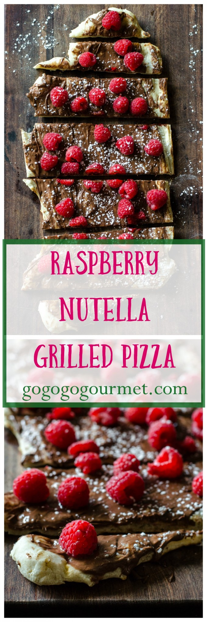 The grill isn't just for dinner anymore- check out this INCREDIBLE dessert pizza with Nutella and raspberries! | Raspberry Nutella Pizza | Go Go Go Gourmet @Go Go Go Gourmet
