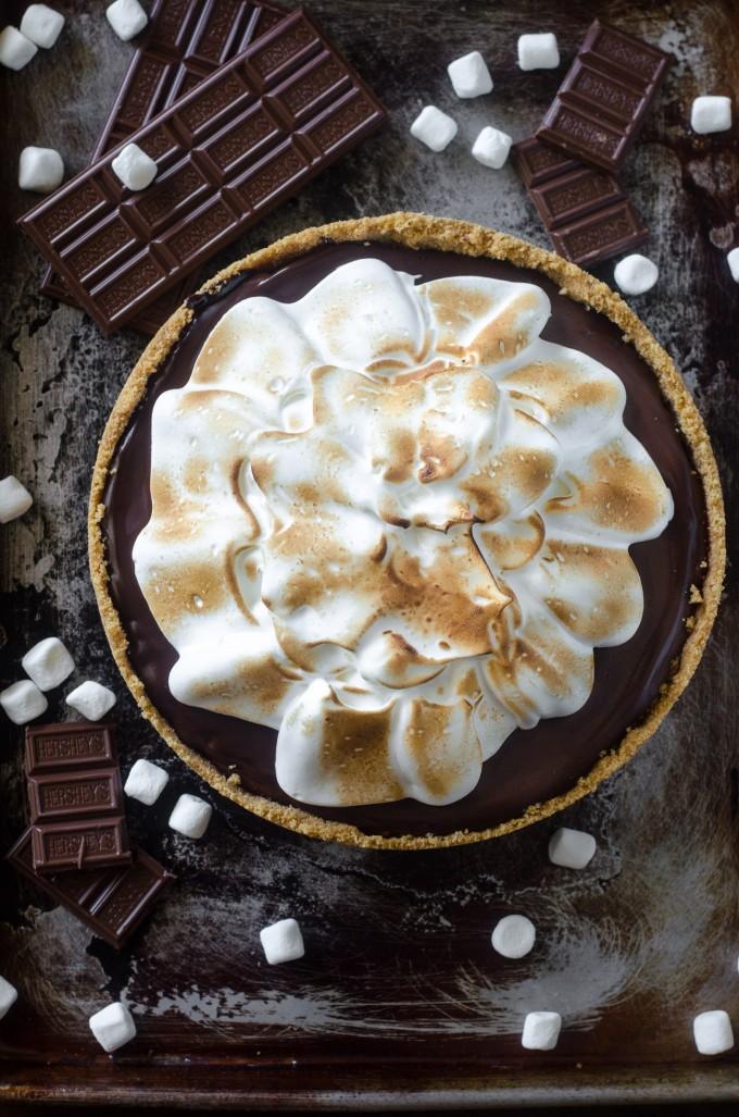 No Bake Smores Pie | Go Go Go Gourmet @gogogogourmet