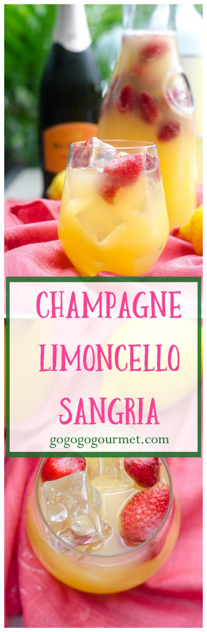 We're running out of summer, so make this fabulous summer refresher- Champagne Limoncello Sangria! | Go Go Go Gourmet @Go Go Go Gourmet via @gogogogourmet