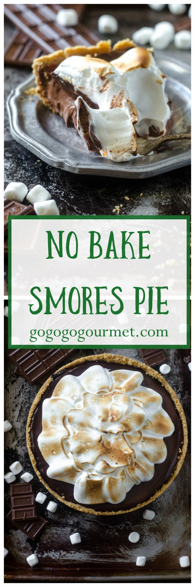 This No Bake Smores Pie is so incredible, you'll never believe that its semi-homemade! | Go Go Go Gourmet @Go Go Go Gourmet via @gogogogourmet
