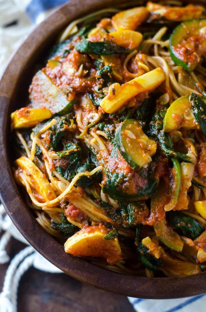 Summer Vegetable Marinara | Go Go Go Gourmet @gogogogourmet