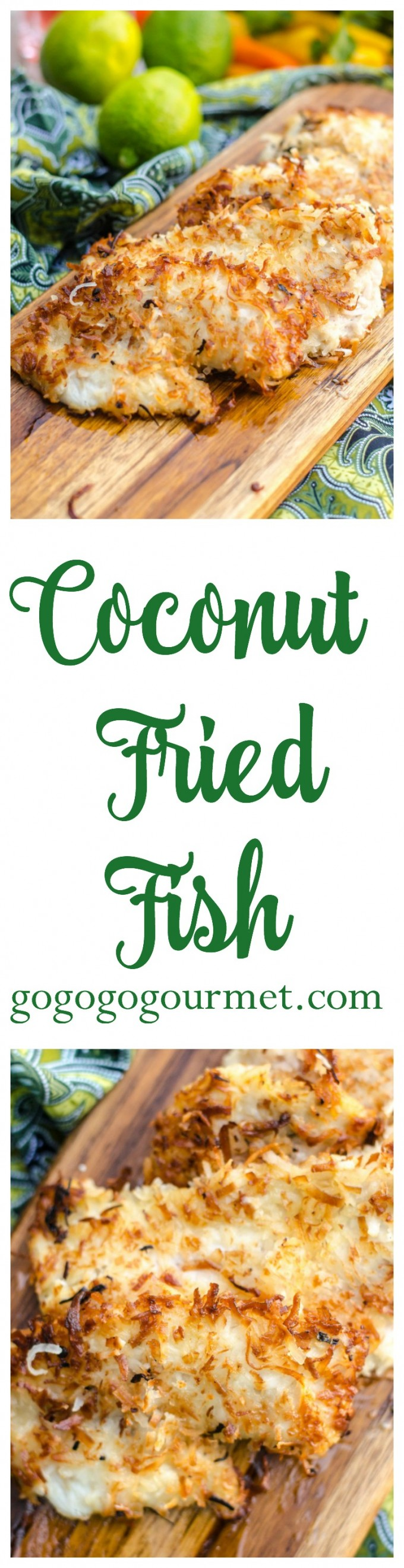 This Coconut Crusted Fried Fish is a surefire way to add a little island flair to your day! Only a handful of pantry-ready ingredients and ready in under 30 minutes. Coconut Fried Fish | Go Go Go Gourmet @Go Go Go Gourmet