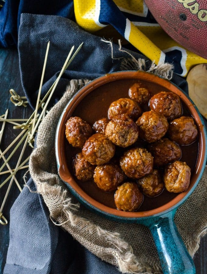 Dr Pepper Meatballs with Sriracha Fried Mac & Cheese Balls