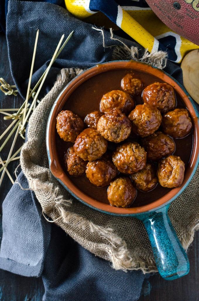 Dr Pepper Meatballs | @gogogogourmet