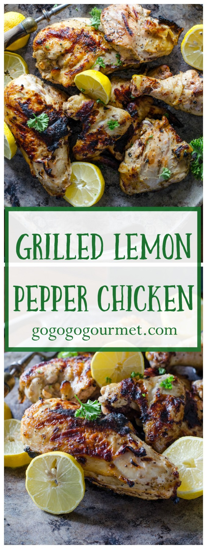 The marinade for this Lemon Pepper Chicken is super easy and makes the juiciest chicken ever! | Go Go Go Gourmet @gogogogourmet via @gogogogourmet
