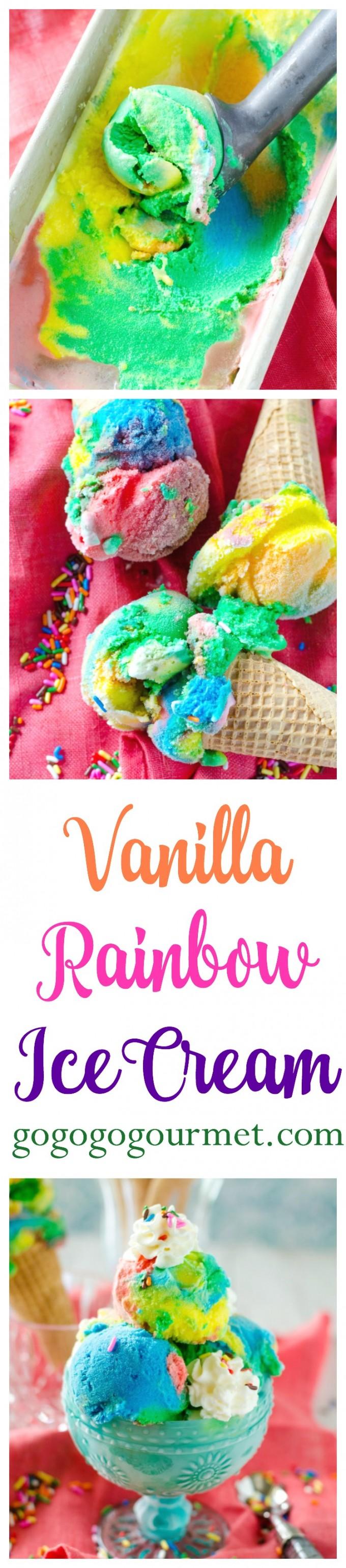 I scream, you scream, EVERYONE screams for this Vanilla Rainbow Ice Cream! Vanilla is boring no more. | Go Go Go Gourmet @Go Go Go Gourmet