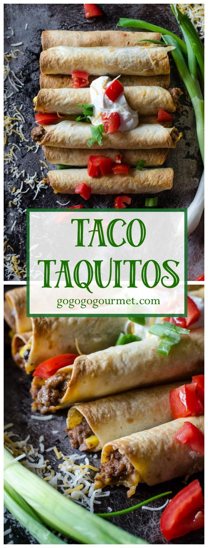 Easy Taco Taquitos- weeknight dinner at its finest! @gogogogourmet via @gogogogourmet