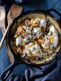 Creamy Chicken Casserole with Mushrooms and Wild Rice @gogogogourmet