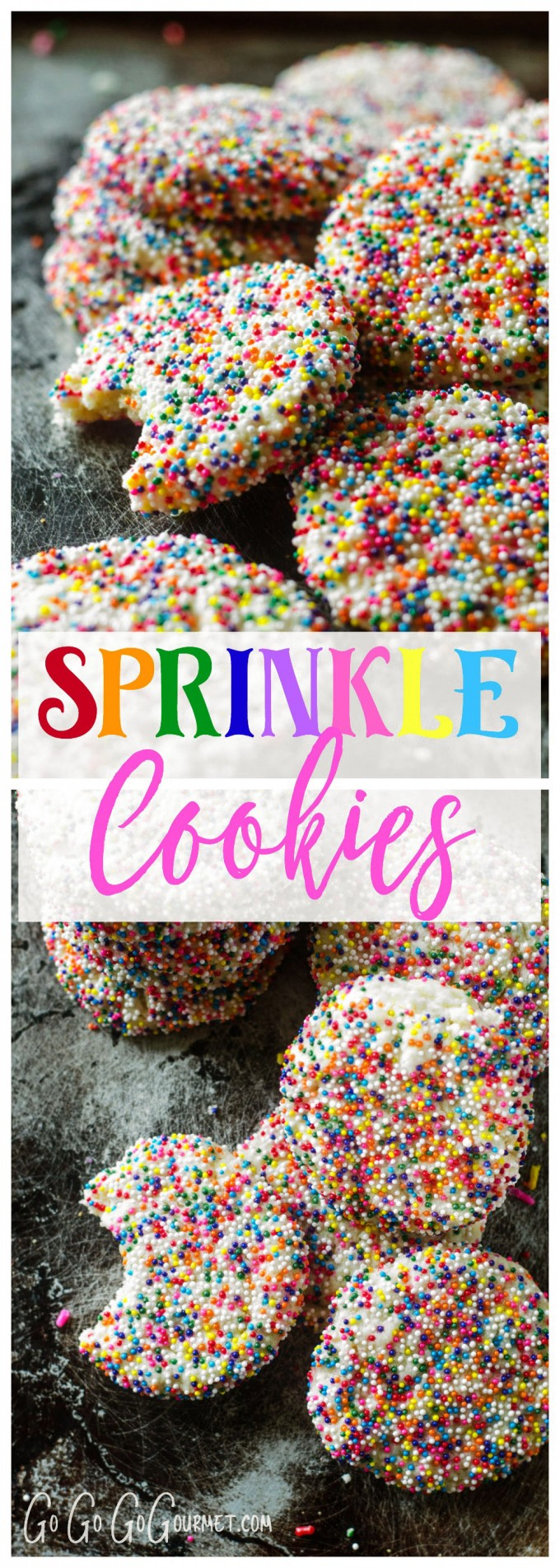 You can never have too many sprinkles! | Sprinkle Cookies