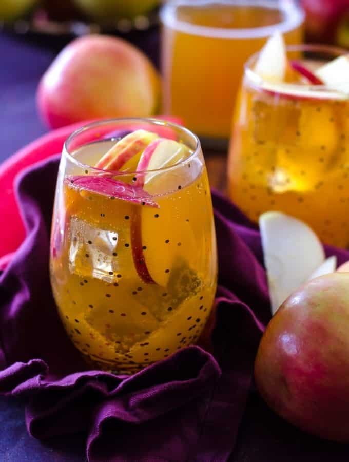 Sparkling Double Apple Cider Fireball Sangria