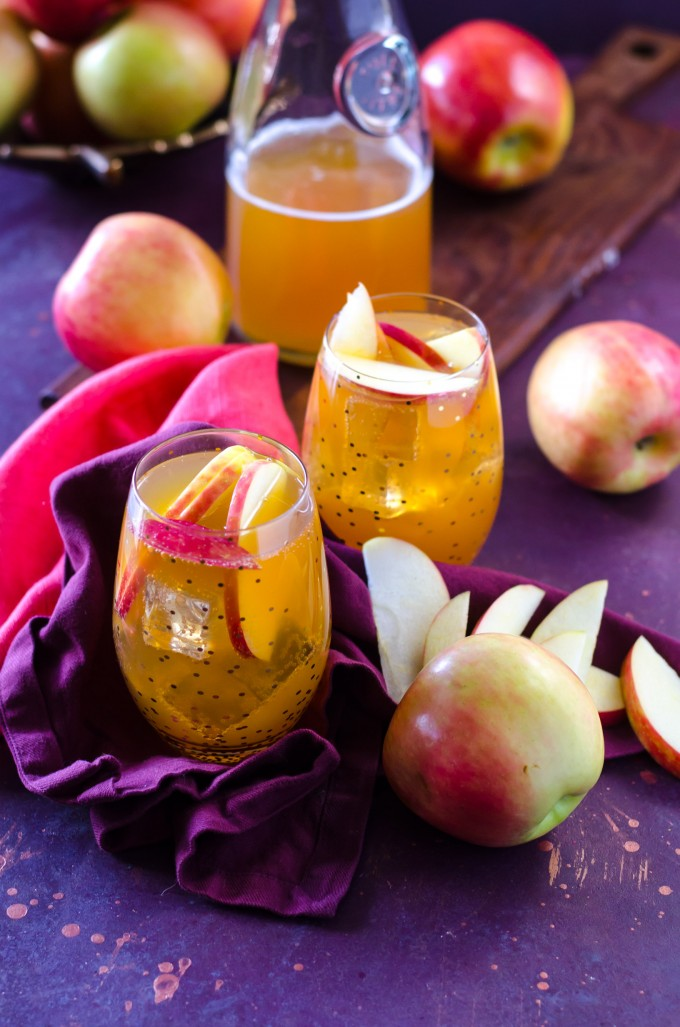 Apple Cider Fireball Sangria | @gogogogourmet