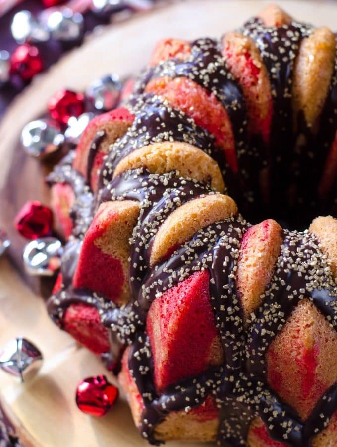 Chocolate Glazed Peppermint Cake