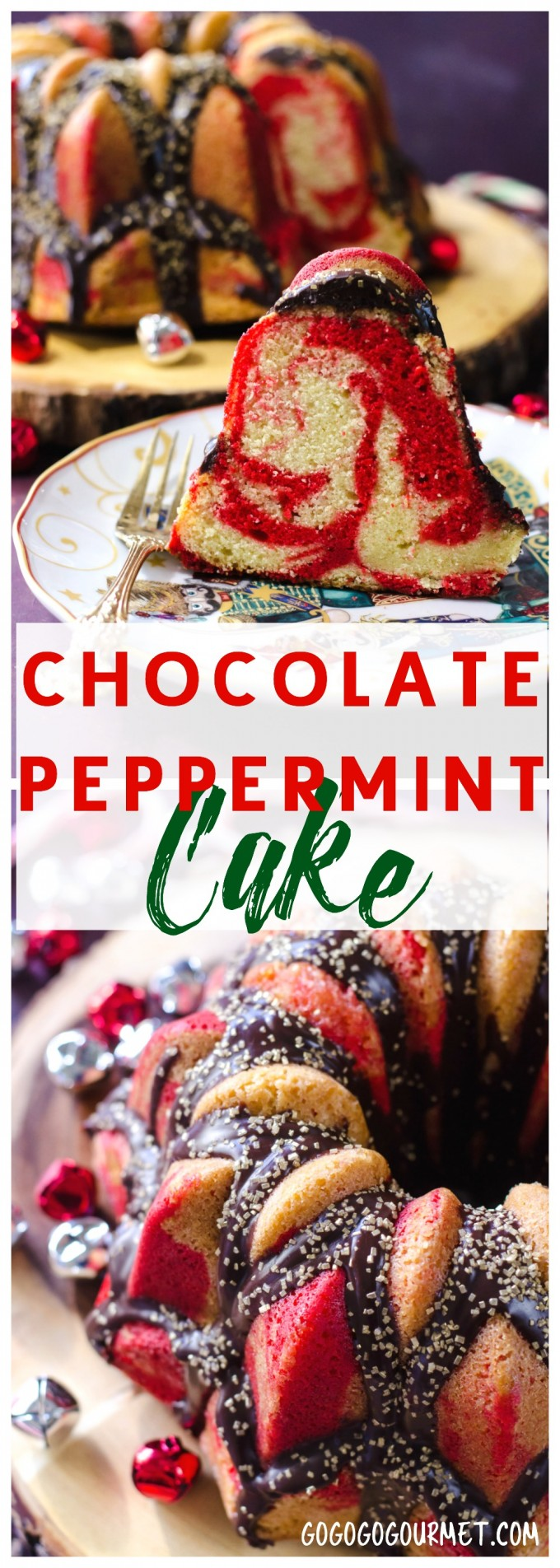 Chocolate Glazed Peppermint Cake Go Go Go Gourmet