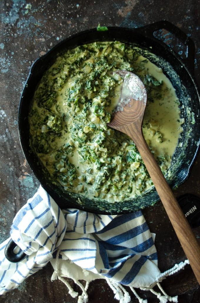Creamed Spinach | @gogogogourmet
