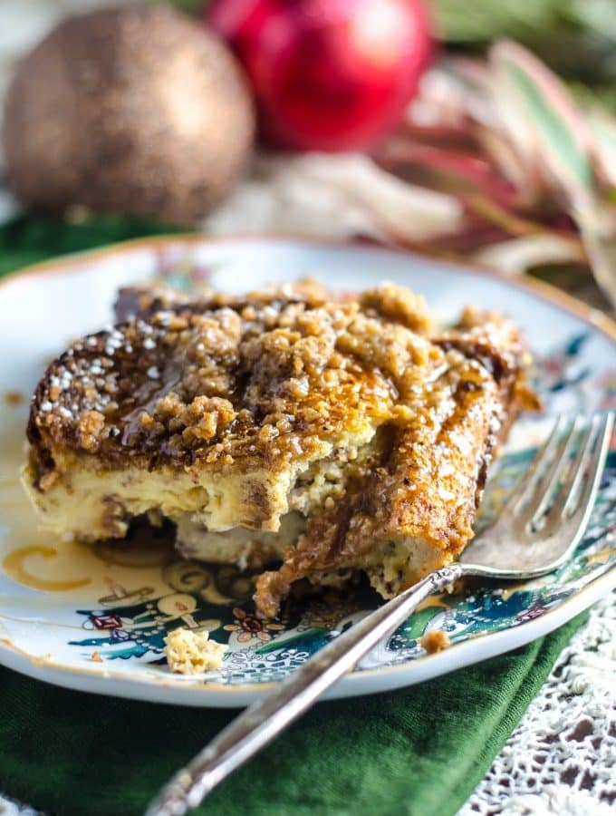 Overnight Eggnog French Toast Casserole