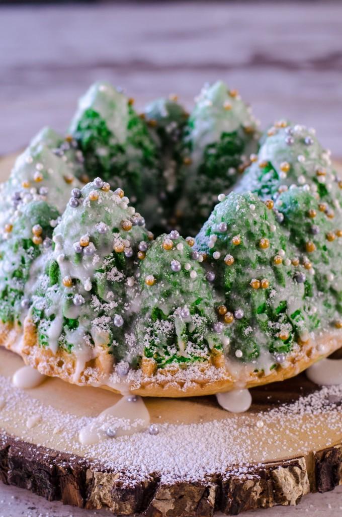 Snowy Christmas Tree Cake Go Go Go Gourmet