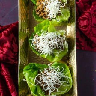Stir Fry Chicken Lettuce Wraps (PF Chang's Copycat) | @gogogogourmet