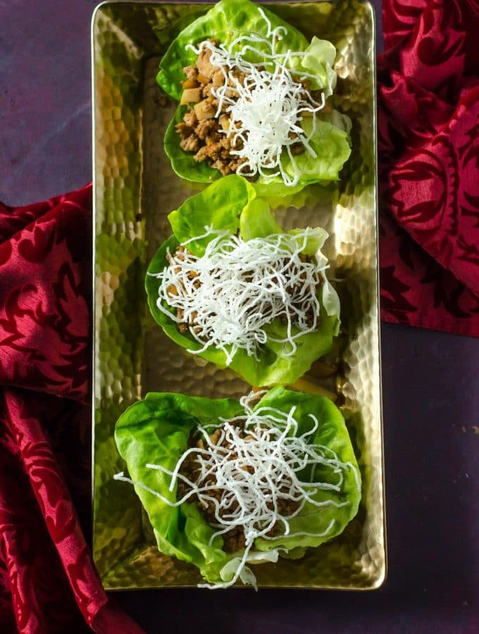 Chicken Lettuce Wraps (PF Chang's Copycat)