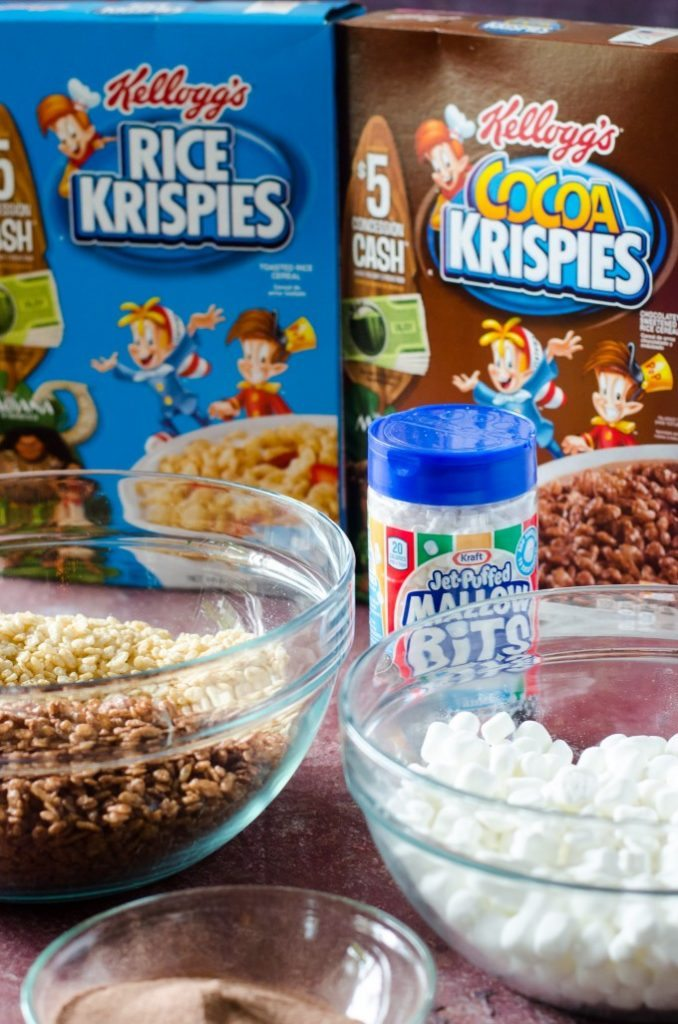 Hot Chocolate Rice Krispie Treats- a fast and easy holiday no-bake treat!! | @gogogogourmet