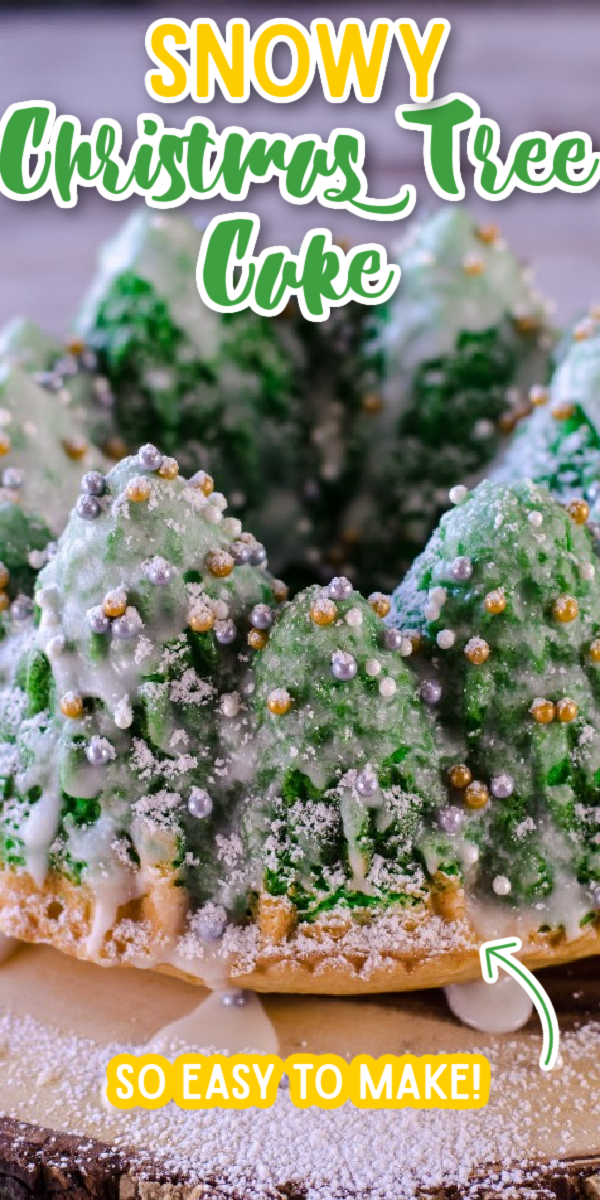 If you're wondering how to make a showstopping dessert for Christmas, look no further! A special pan makes decorating this Snowy Christmas Tree Cake so easy. Using a simple decoration like sprinkles, you can make this recipe look amazing - even without fondant! You can even add your own ideas to spice it up! #gogogogourmet #snowychristmastreecake #christmasdesserts #christmasdesserts via @gogogogourmet