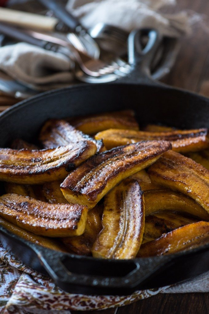 This Fried Plantains recipe is completely phenomenal- not to mention easy! Only three, maybe four, ingredients go into these melt-in-your-mouth sweet plantains! | @gogogogourmet