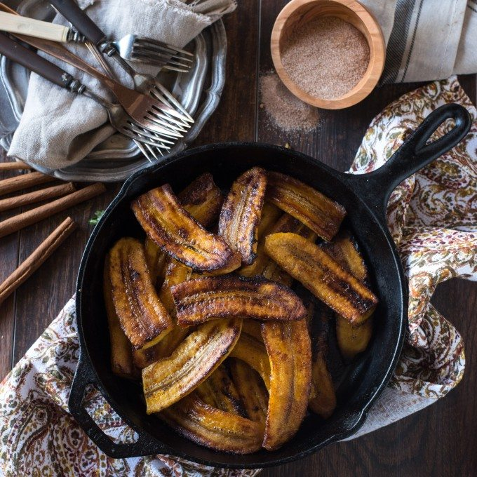 This Fried Plantains recipe is completely phenomenal- not to mention easy! Only three, maybe four, ingredients go into these melt-in-your-mouth sweet plantains!