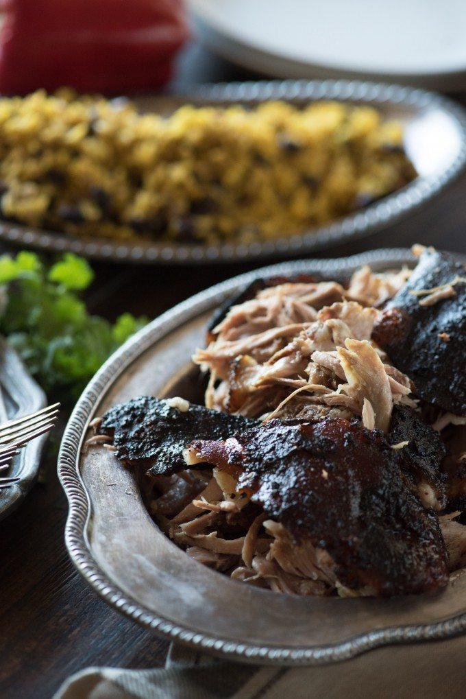 Pernil, Puerto Rican Slow Roasted Pork   @gogogogourmet