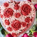 Chocolate Flower Cake- red roses and light pink drop flowers. This cake is SO easy! @gogogogourmet