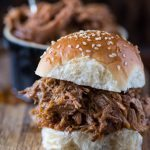 Slow Cooker BBQ Pulled Pork Sliders- a total breeze and amazingly delicious, thanks to my secret sauce ingredient! | @gogogogourmet