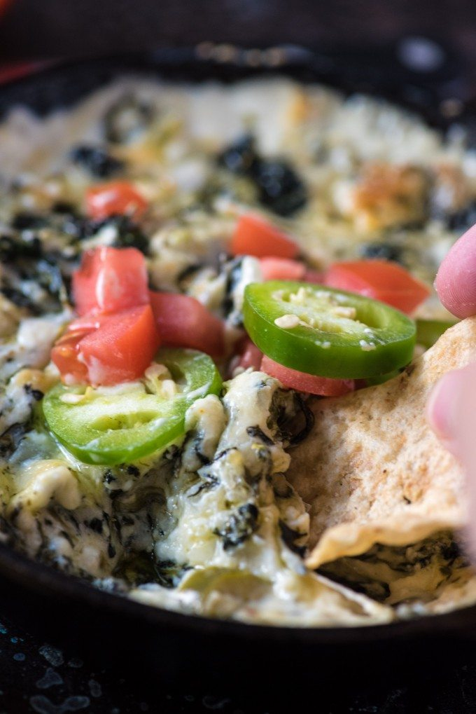 Jalepeño Spinach Cheese Dip | @gogogogourmet