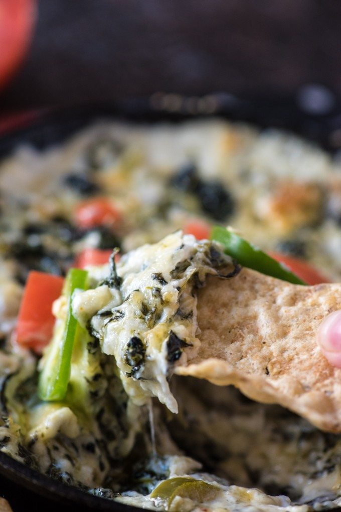 Spicy Jalepeño Spinach Cheese Dip is a quick and easy appetizer- you'll love this spicy twist on a cheesy classic!