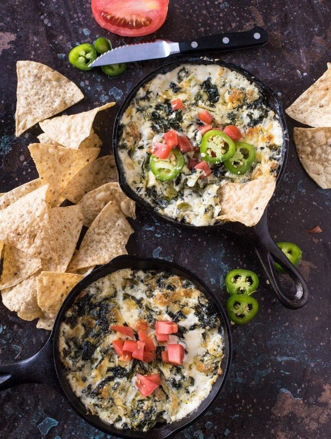 Spicy Jalepeño Spinach Cheese Dip is a quick and easy appetizer- you'll love this spicy twist on a cheesy classic! @gogogogourmet