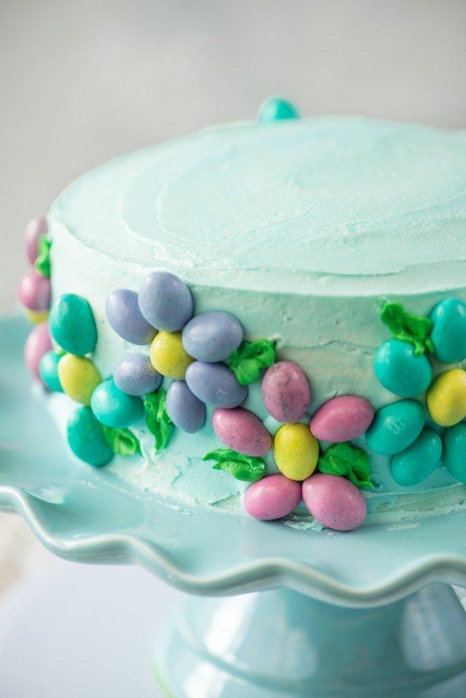 Spring Flower Cake Recipe | @gogogogourmet