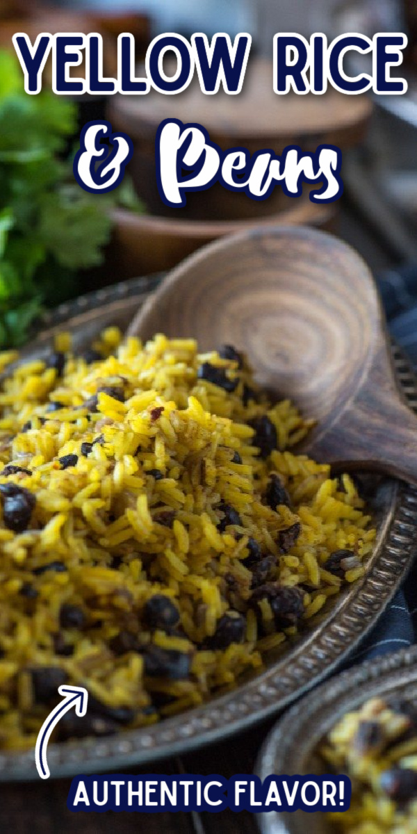 This authentic Yellow Beans and Rice recipe is perfect for serving with Puerto Rican pork (pernil.) And they only require 5 ingredients! #gogogogourmet #yellowbeansandrice #puertoricanfood via @gogogogourmet