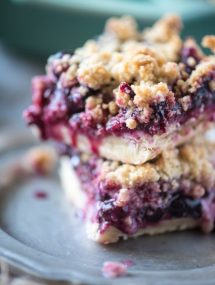 Blueberry Crumb Bars | @gogogogourmet