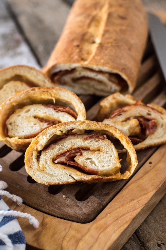 Pepperoni Bread Recipe | @gogogogourmet