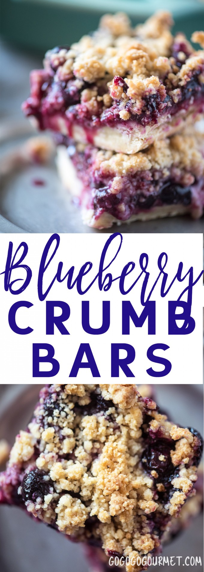 These Blueberry Crumb Bars are basically a portable Blueberry Crumb Pie that you eat with your hands! |