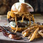 Spicy & Smoky Candied Bacon Burger | @gogogogourmet