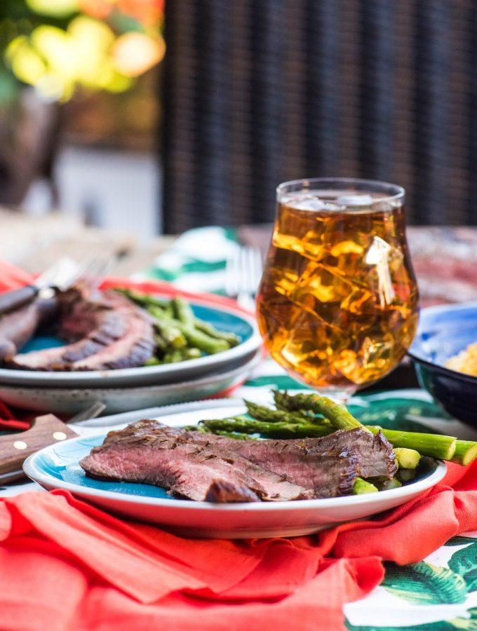 Sweet Heat Grilled Balsamic Marinated Flank Steak