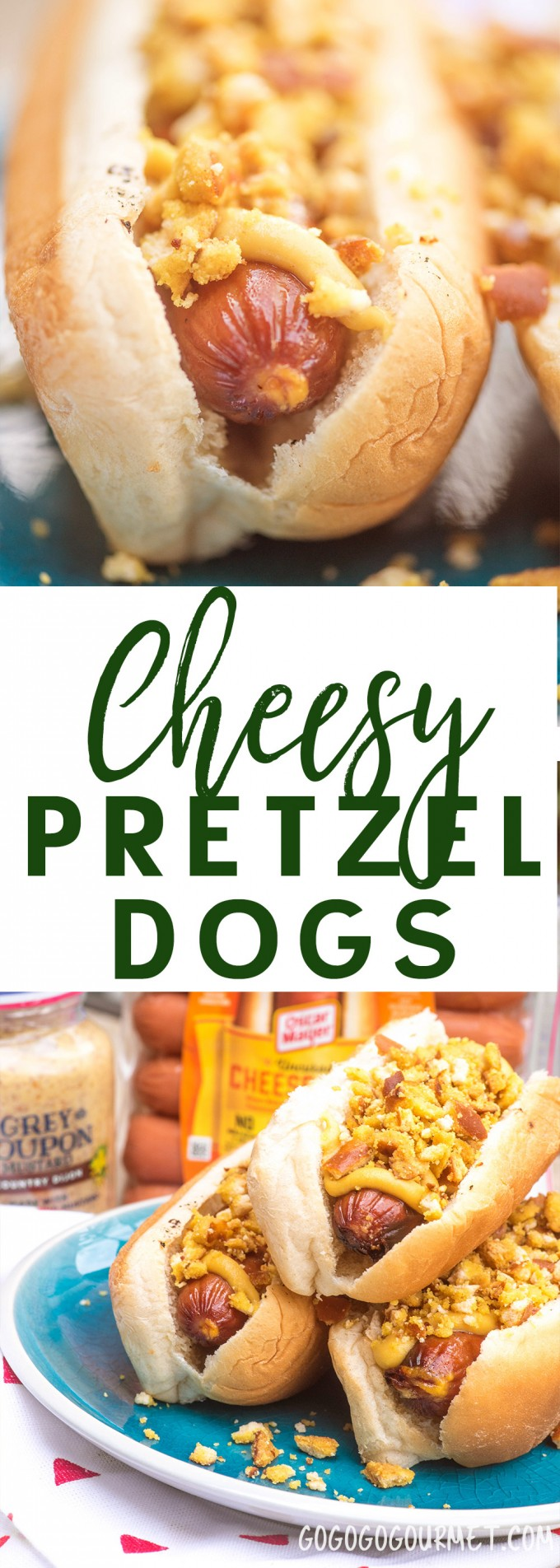 These Cheesy Pretzel Dogs are a fast and easy summer dish that have a surprising burst of flavor, sure to be a hit with kids!
