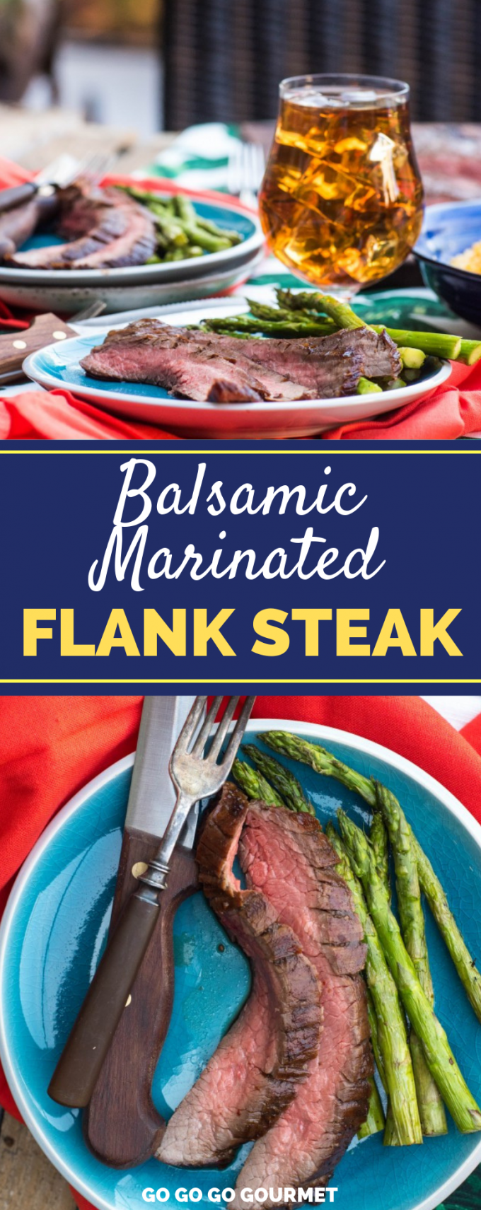 This Sweet Heat Grilled Balsamic Marinated Flank Steak recipe is easy to throw together, and yields the most tender, juicy flank steak you've ever had with a sweet heat that's to die for! #flanksteak #marinatedflanksteak #grilledsteak #flanksteakrecipes via @gogogogourmet