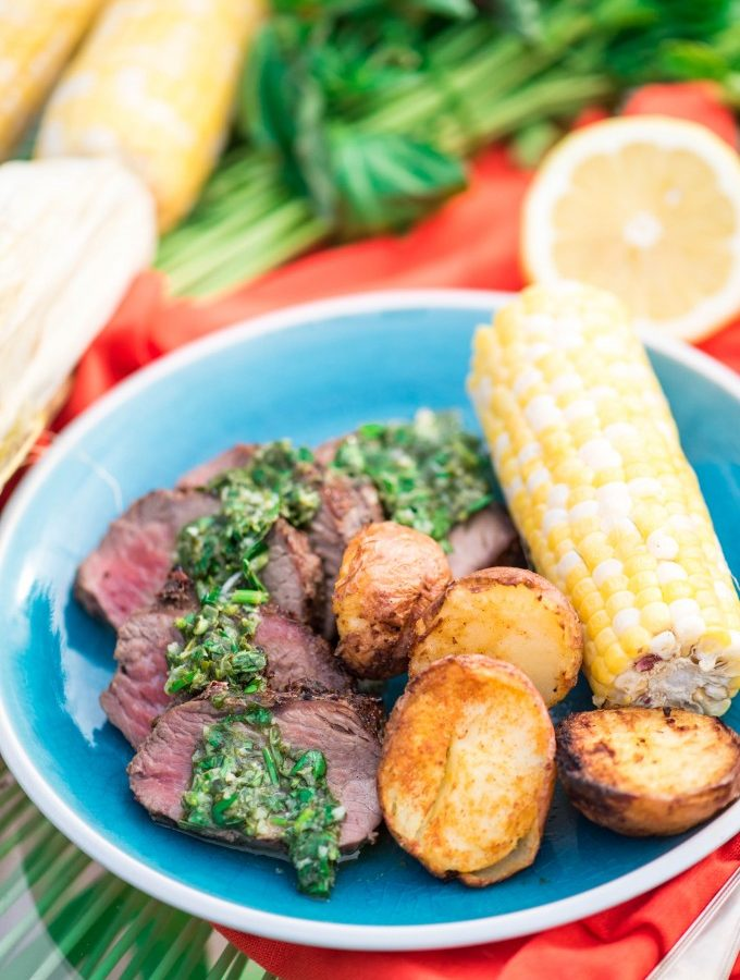 Lemon Basil Gremolata with Grilled Beef Tenderloin