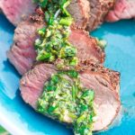 Lemon Basil Gremolata with Grilled Beef Tenderloin for a fresh, summery meal that's good any time of year! | @gogogogourmet