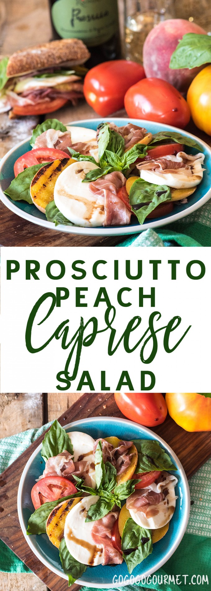 Prosciutto Peach Caprese Salad- your new must-have summer salad recipe!