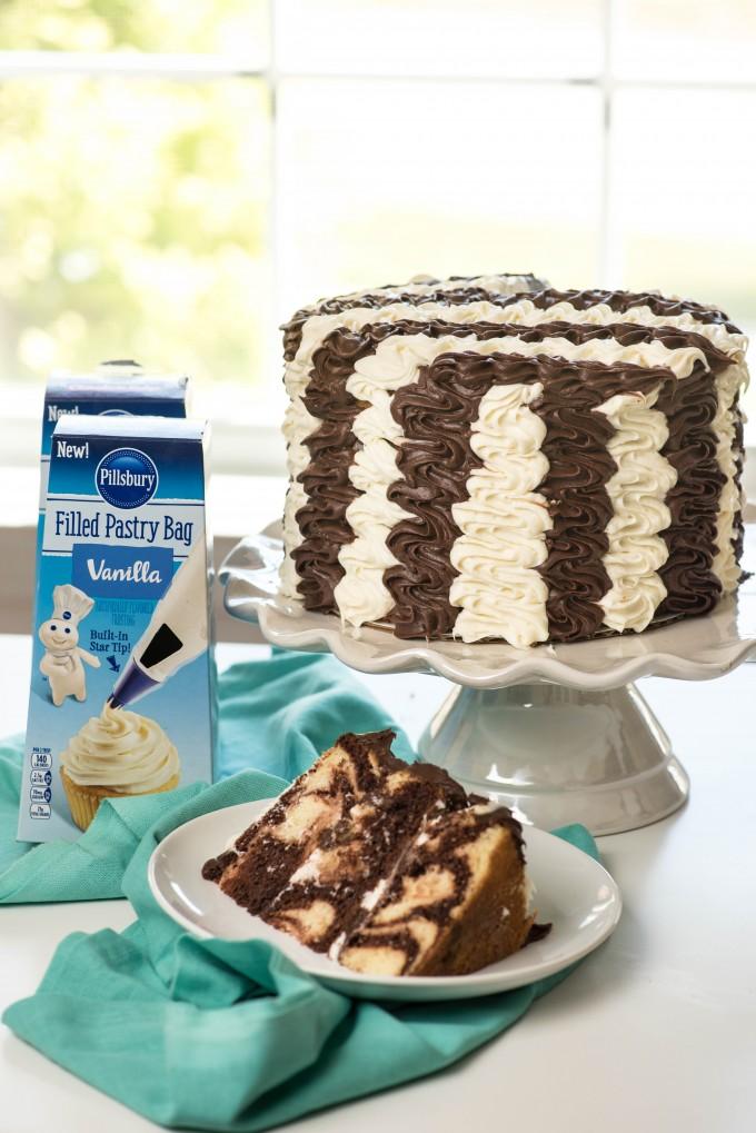 Black And White Stripe Marble Cake Go Go Go Gourmet