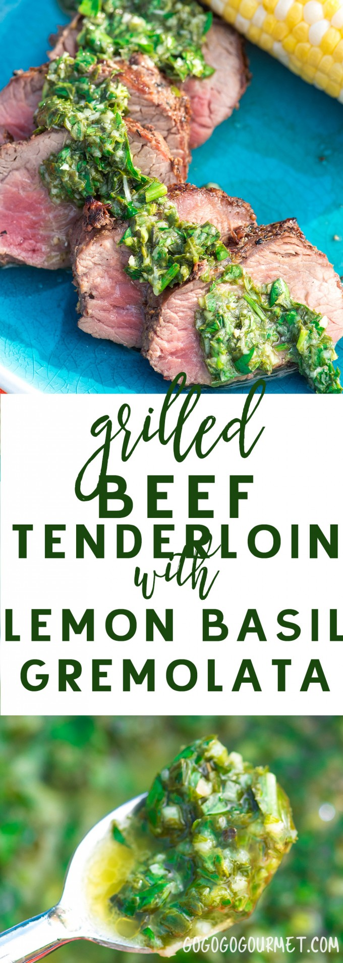 This Lemon Basil Gremolata is the perfect summer topping for grilled meat, fish, poultry or vegetables! Fast and easy, with no big kitchen equipment required. via @gogogogourmet