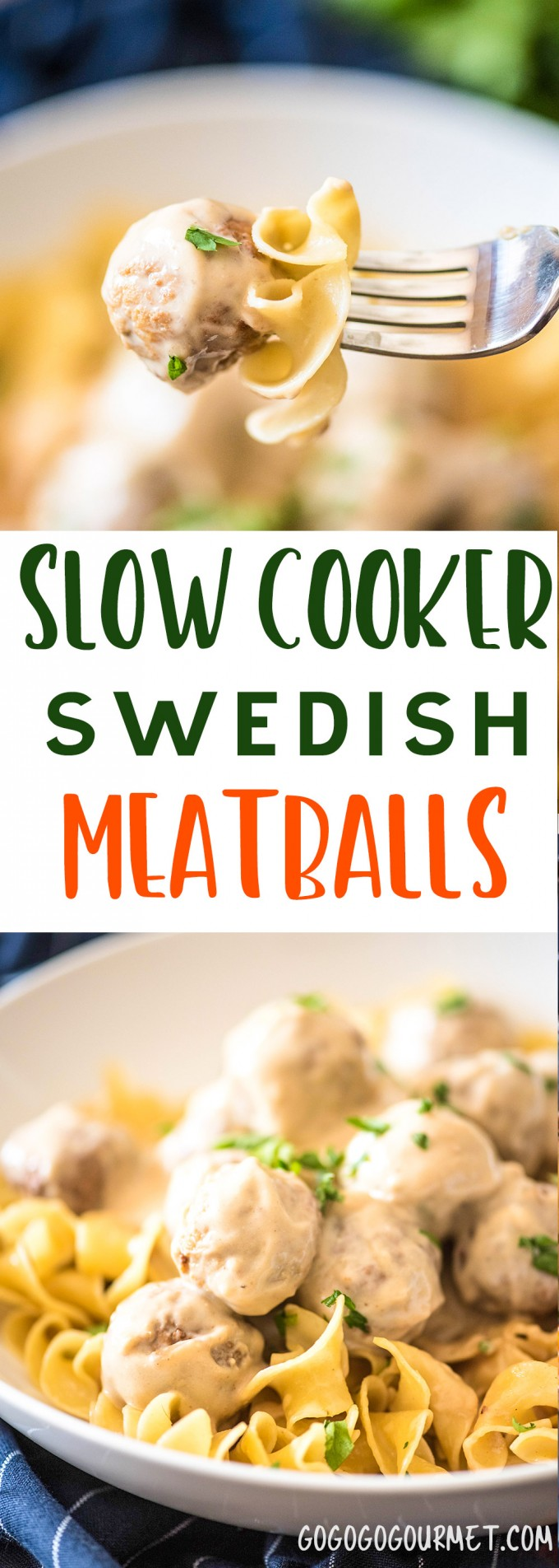 These Slow Cooker Swedish Meatballs are the perfect back-to-school dinner that everyone will love. Only six ingredients in this fast and easy meal!