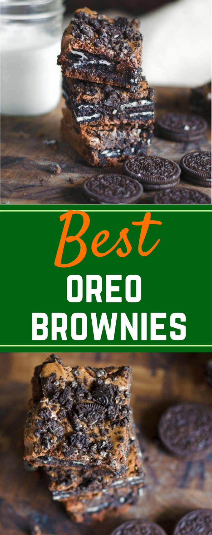 Say goodbye to cupcakes and hello to these Oreo Brownies! This from scratch, easy Oreo Brownies recipe takes your favorite cookie and turns it into a decadent dessert! You can even use a box mix to make it easier! #oreobrownies #fromscratchdesserts #easydessertrecipes #gogogogourmet via @gogogogourmet