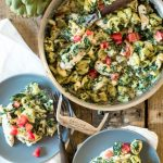Spinach Artichoke Dip One Pot Pasta | @gogogogourmet